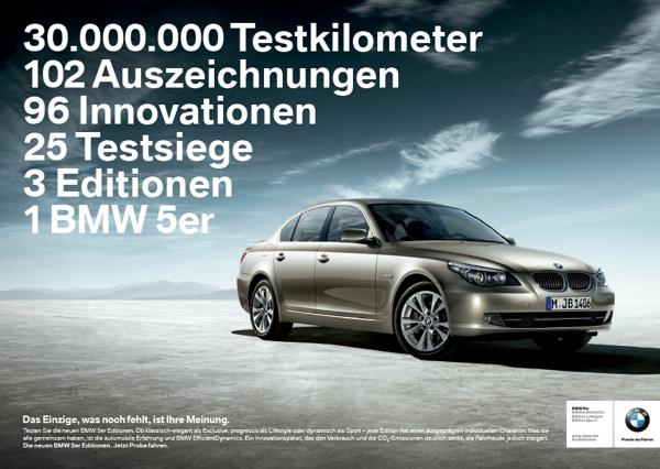 BMW 5 Series Printanzeige 1