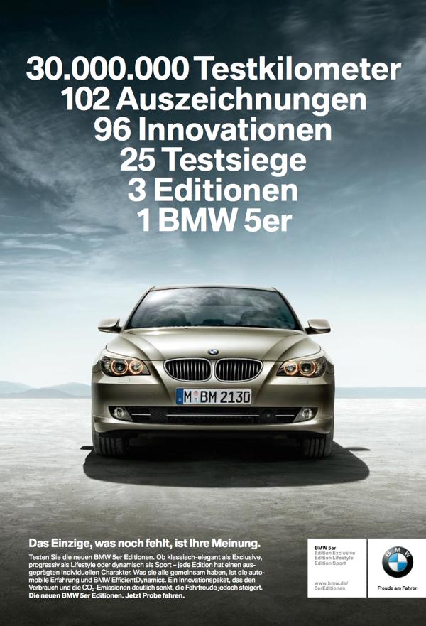 BMW 5 Series Printanzeige 2