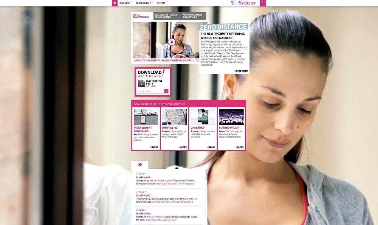 T-Systems Website Screenshot 1